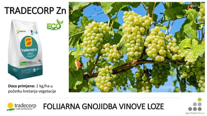 Tradecorp Zn - gnojivo za folijarnu gnojidbu vinove loze