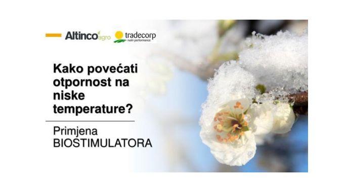 Primjena biostimulatora za povećanje otpornosti na niske temperature